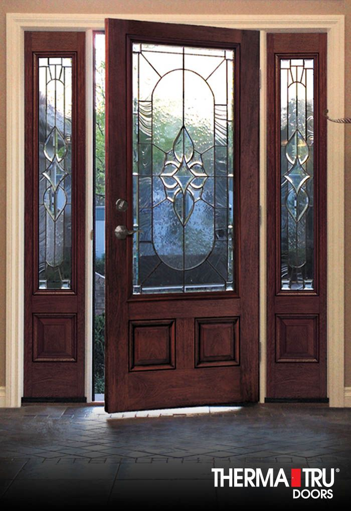 Therma tru classic craft mahogany collection fiberglass for Therma tru entry doors