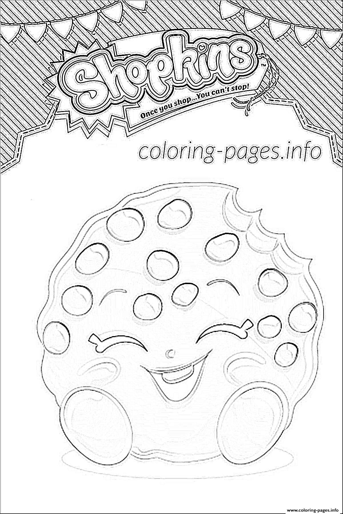 Print Shopkins Kooky Cookie Shoppies Coloring Pages Coloring