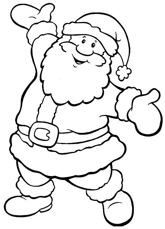 Disegno Di Natale Babbo Allegro Da Stampare E Colorare Colori