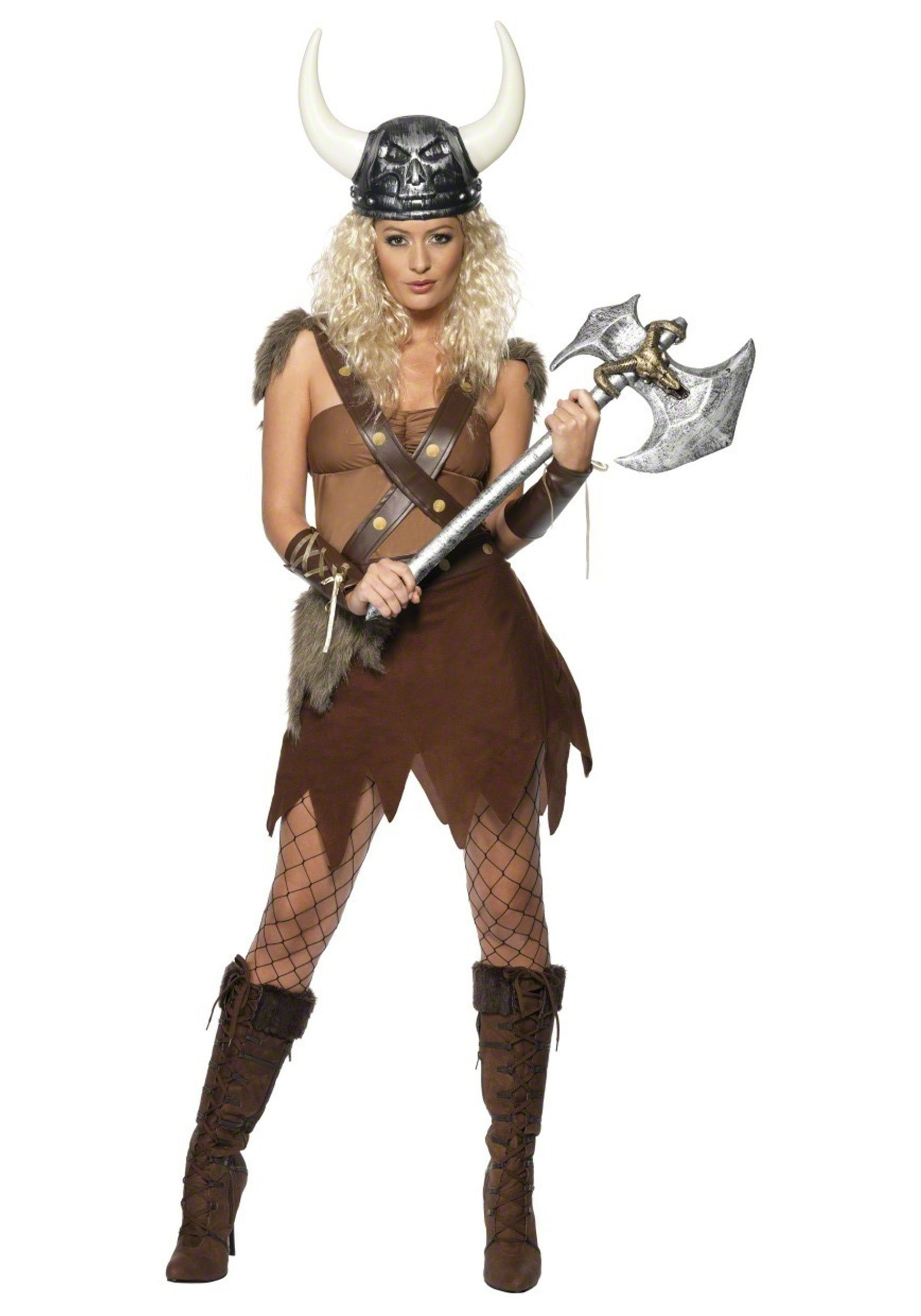 Womens Adults Viking Barbarian Warrior Nordic Fancy Dress Costume Outfit