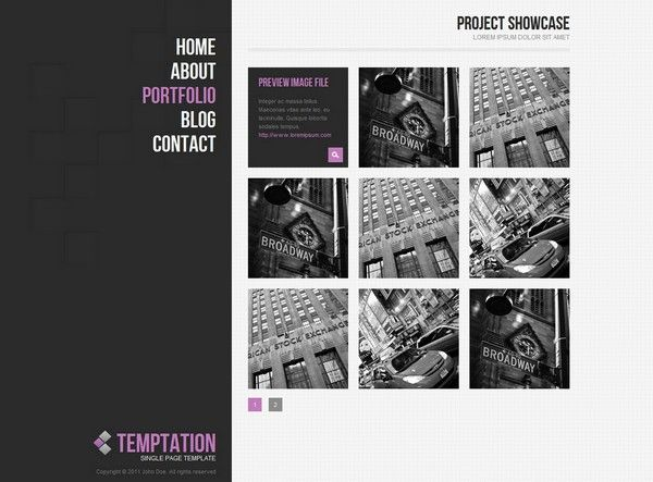 web portfolio design templates minimalistic - Google'da Ara | Web ...
