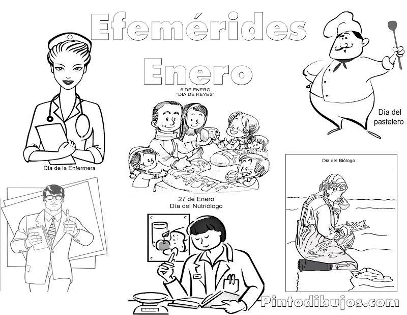 Efemérides Enero para colorear | Efemerides de enero | Pinterest ...
