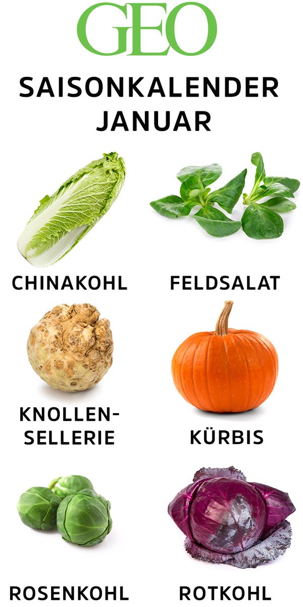 Saisonkalender Obst Gemüse Im Januar Essen Und Trinken Auf