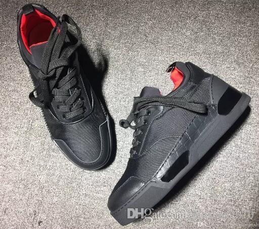06da3d1a6a8 Drop Shipping New 2018 New Sports Designer Loubs Red Bottom Men Sneakers  Bnib Rare Aurelien Flat
