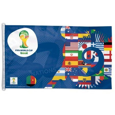 2014 Fifa World Cup Brasil 3x5 Flag by Wincraft