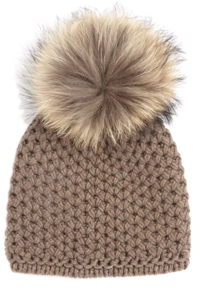 806d223a838 Inverni Beige Cashmere Pom Pom Beanie ( 135) ❤ liked on Polyvore featuring  accessories