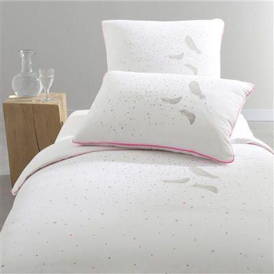 Starsweet Printed Cotton Duvet Cover Fluorescent white