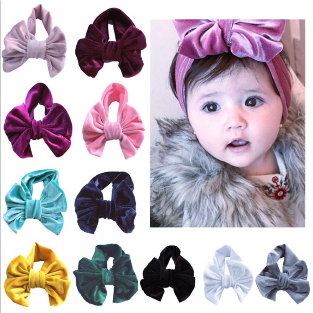 NEW Turban Headband Hair Band Bow Winter Head-wear for Infant Girls Baby Toddler