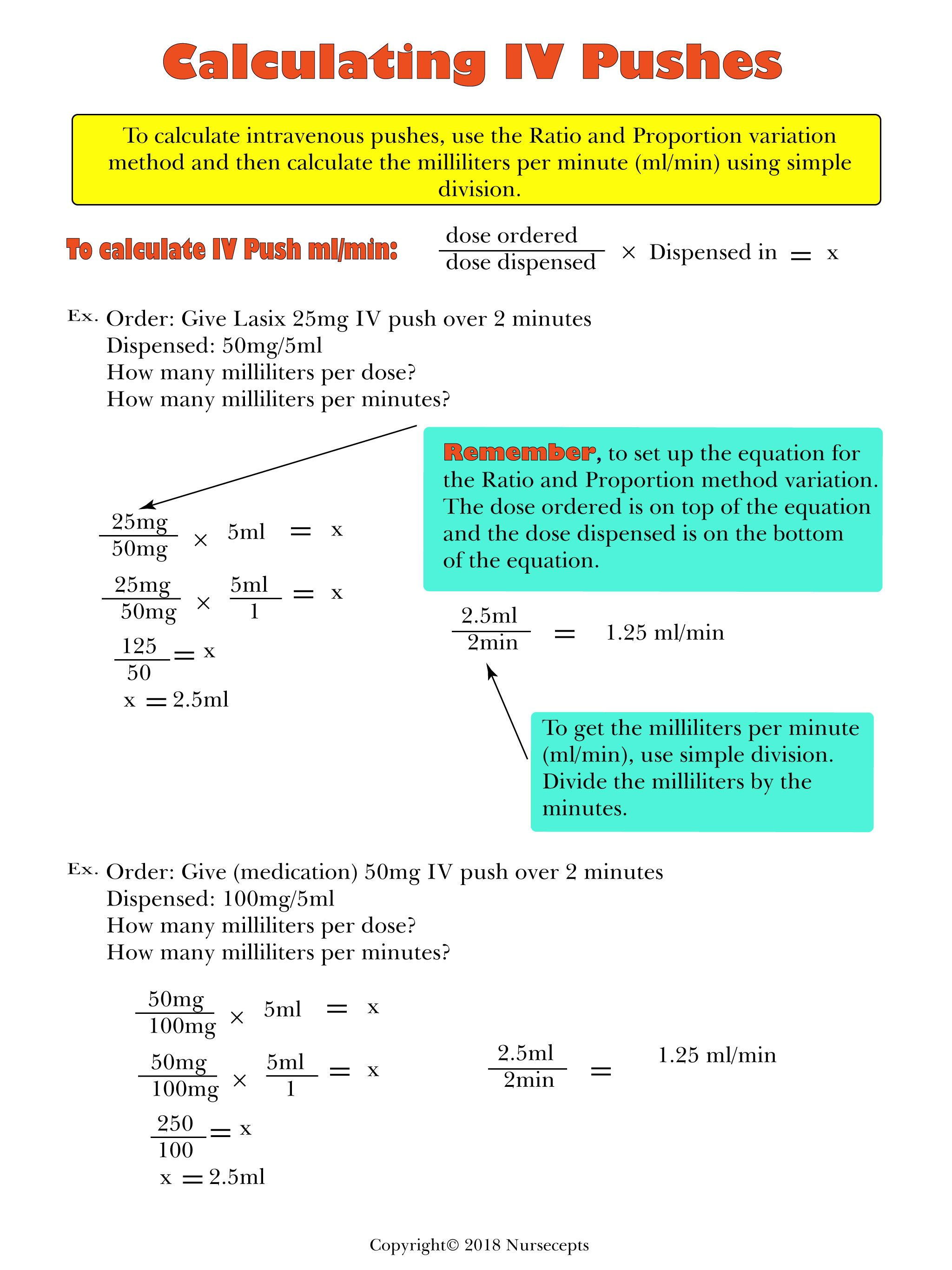 Printable Dosage Calculation Worksheets Learning How To Read