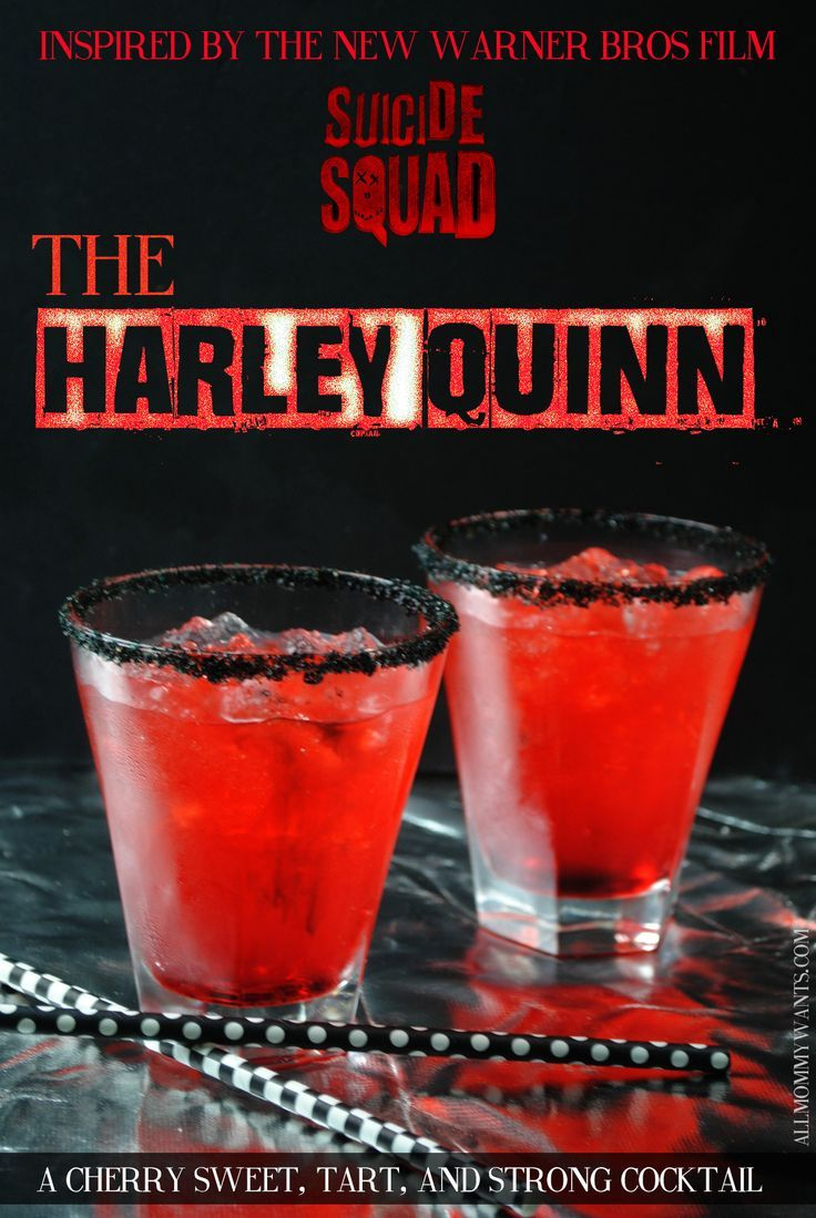 suicide squad inspired cocktail the harley quinn http