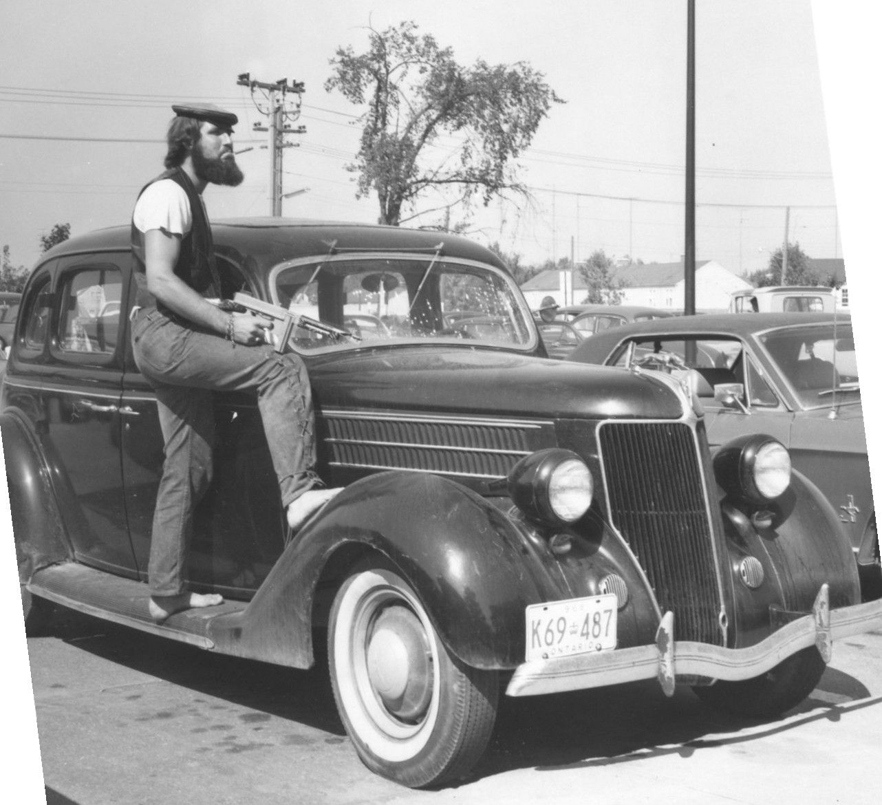 Wlu Student Posing With A 1936 Ford In 1968 Vintage