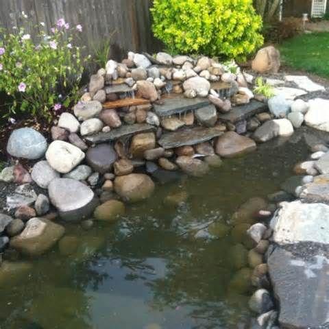 Beautiful backyard DIY Pond! Gardening Pinterest Estanques