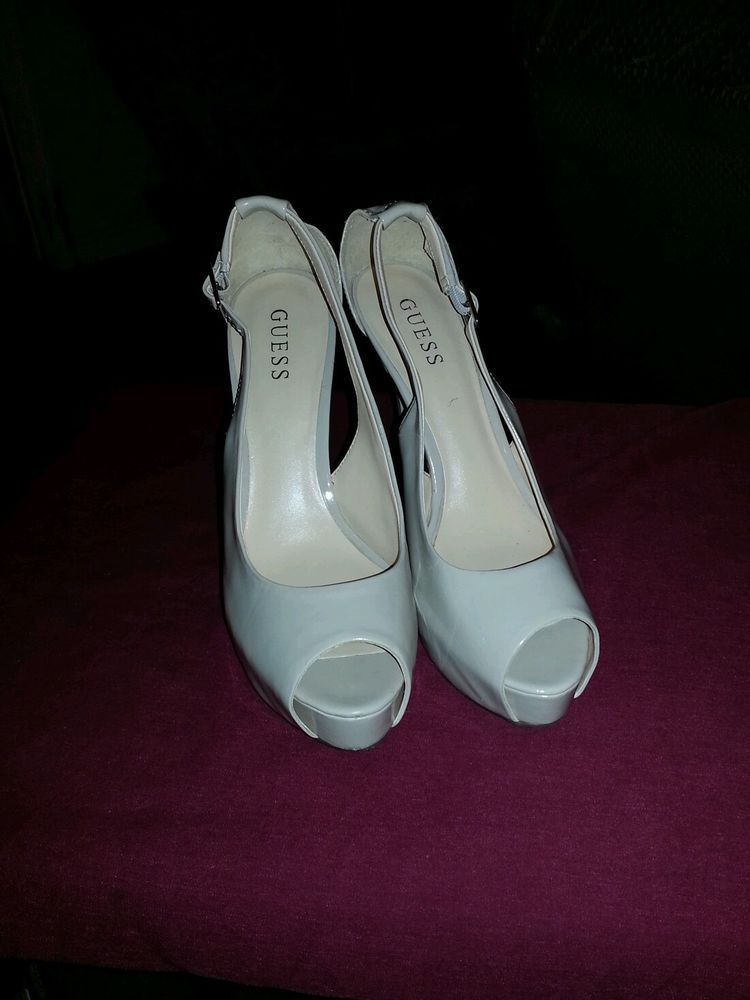 a2d51f744af Guess Hondo Womens Size 9.5M Nude Open Toe Platforms Heels Shoes GUC  GUESS   PlatformsWedges