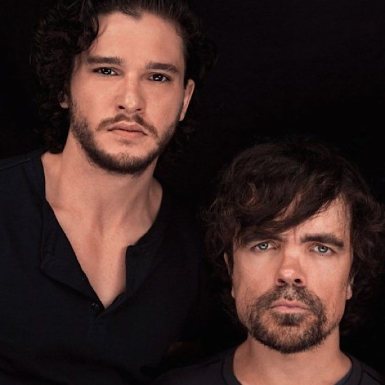 """""""Kit Harington & Peter Dinklage. I love this photo! #tyrion #tyrionlannister #jonsnow I'm sorry but Peter is the sexiest little person I've ever seen.…"""""""