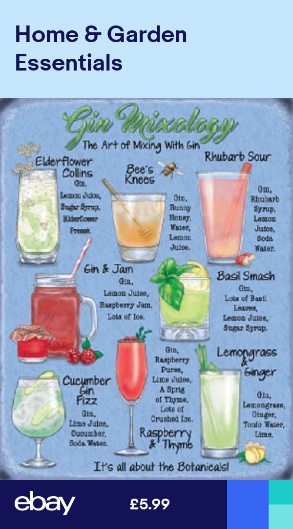 Tin Sign Retro Kitchens Lemonade Tropical bar cocktails