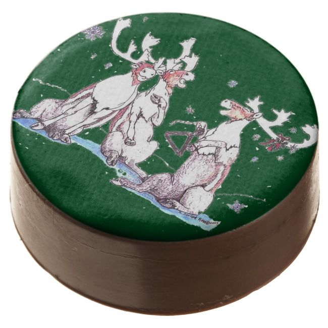Funny Christmas Singing Caribou Delicious Cookie    Funny Christmas Singing Caribou Delicious Cookie