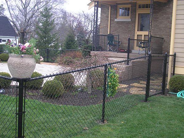 4ft Black Vinyl Fence Planters Small Space Gardening Black