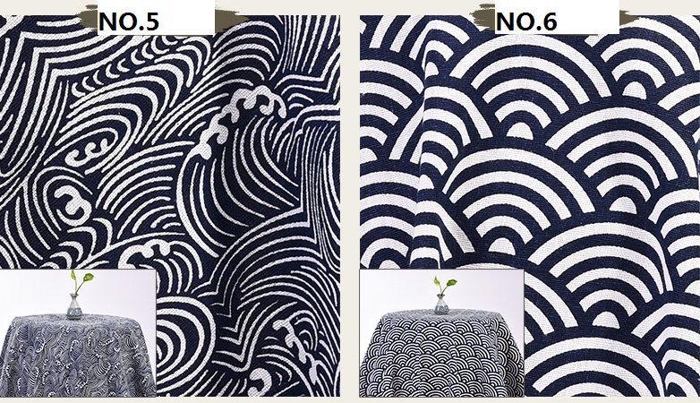 Wave Cotton Linen Cloth Diy Crafting Fabric Lattice Desk Sofa Cover