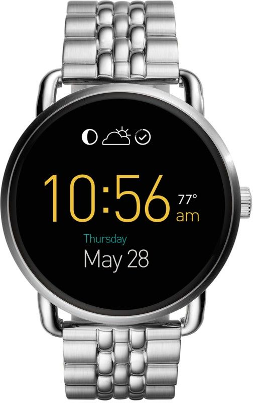 Fossil Q Wander Silver Smartwatch At Rs.9,995 From