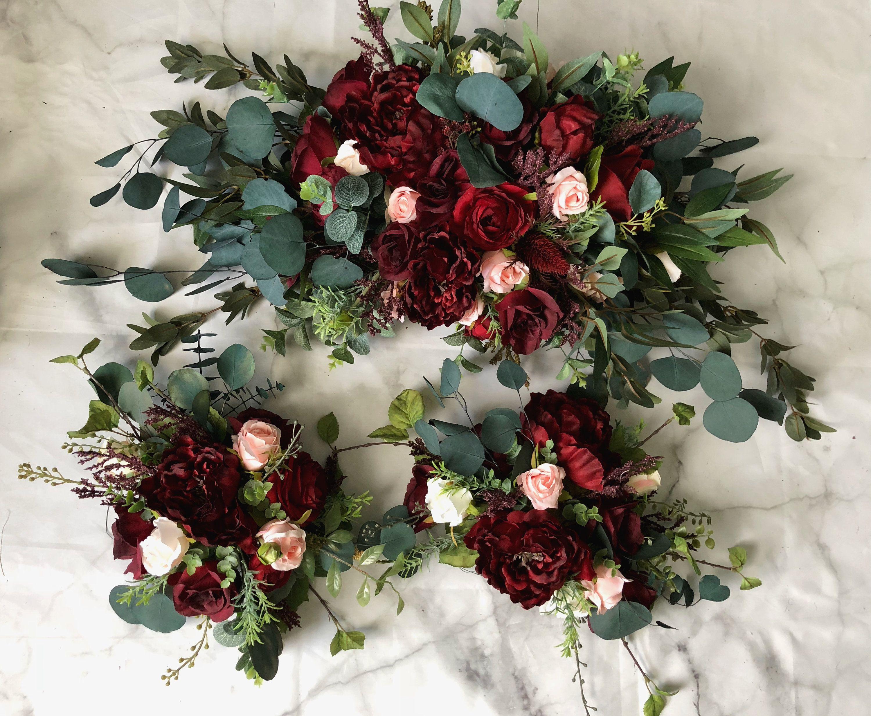 Tie Wedding Arch Arrangement Arbor Ties Arrangements