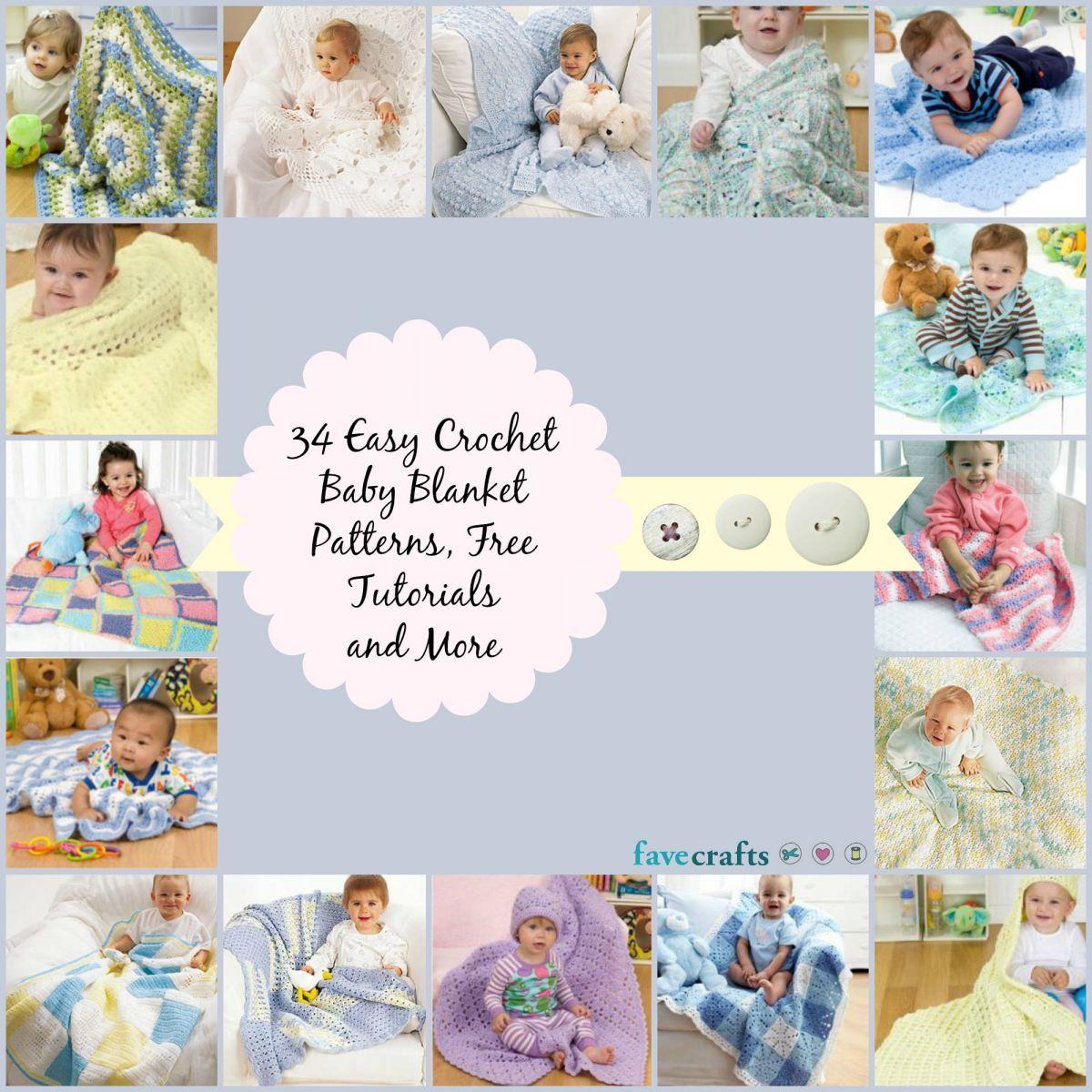 41 Easy Crochet Baby Blanket Patterns | Manta y Cobija