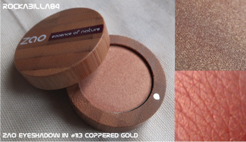 ZAO Makeup Pearly Eyeshadow in 113 Coppered gold
