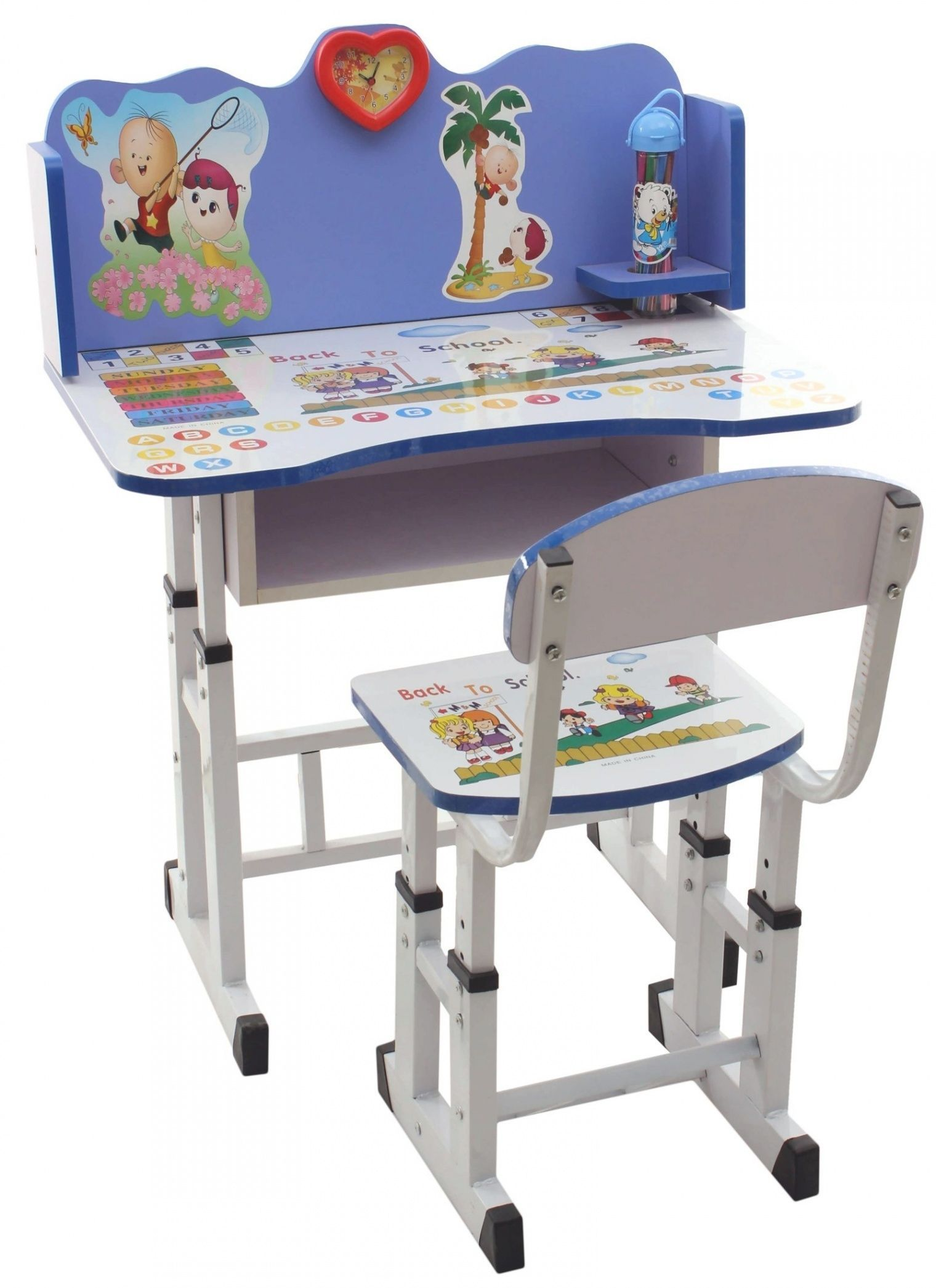 Kids Study Table And Chair Set Child Study Table Chair Set Zsplart