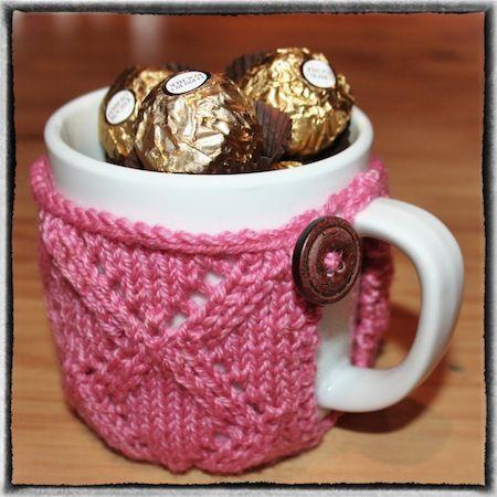 Knitted Mug Cozy | Mug cozy, Mug cozy pattern, Mugs