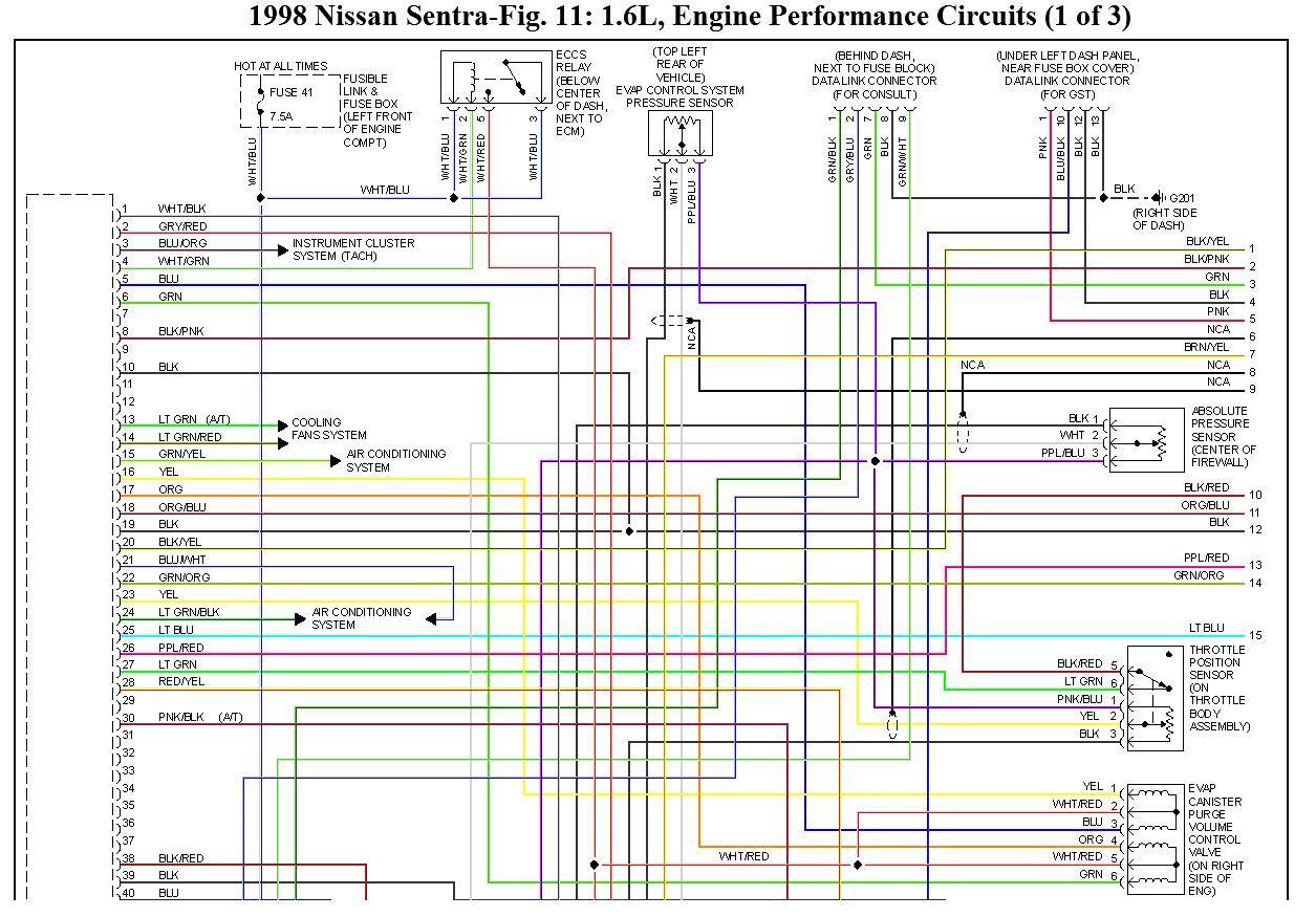 2006 Nissan Sentra Special Edition Radio Wiring Diagram