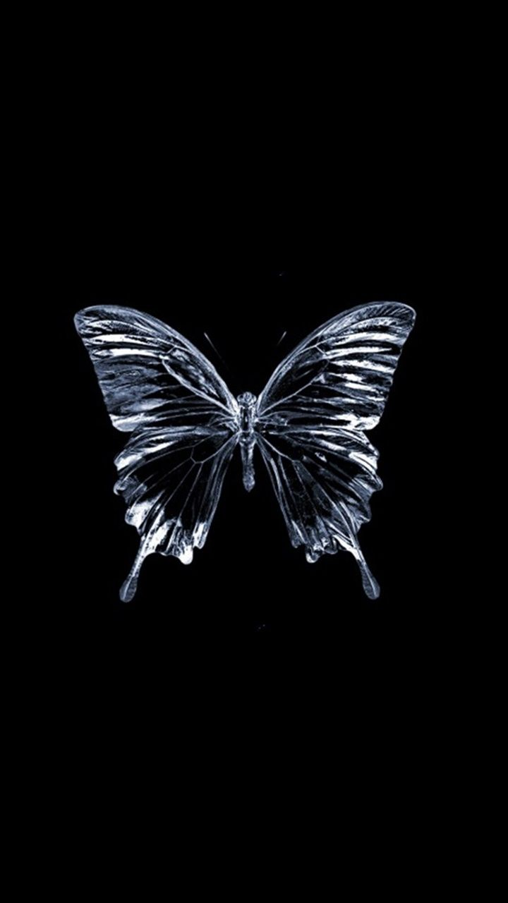 Pin By Michelle On Butterflies Dark Background Wallpaper Black Phone Wallpaper Black Canvas Paintings