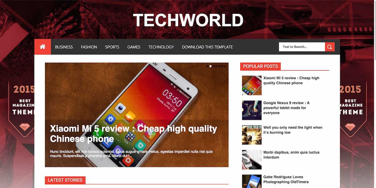11-TechWorld-Blogger-Template | Avalom designs Blogs | Pinterest