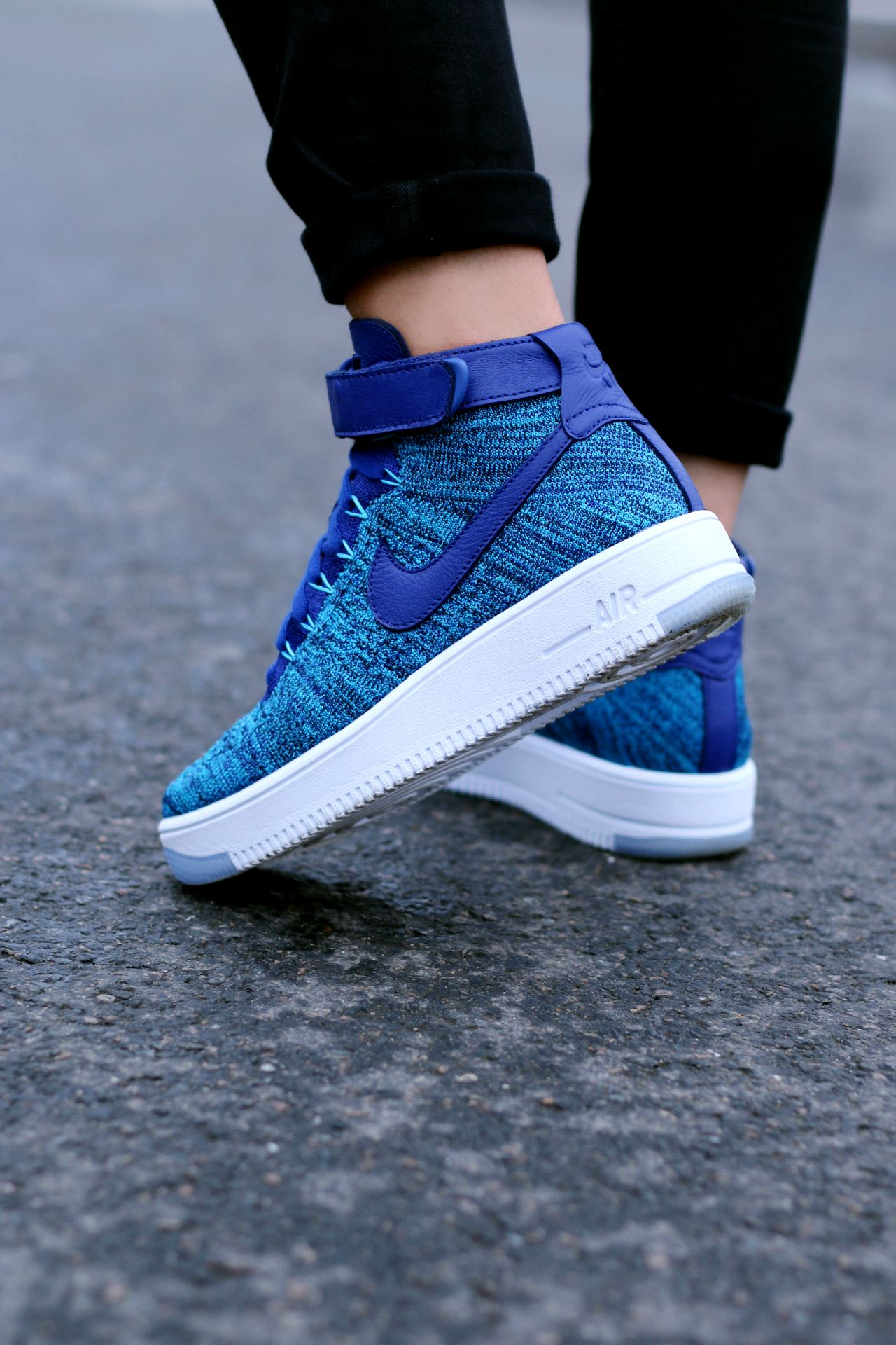 321367e1c91a Nike Air Force 1 Flyknit: Blue | Wow | Pinterest