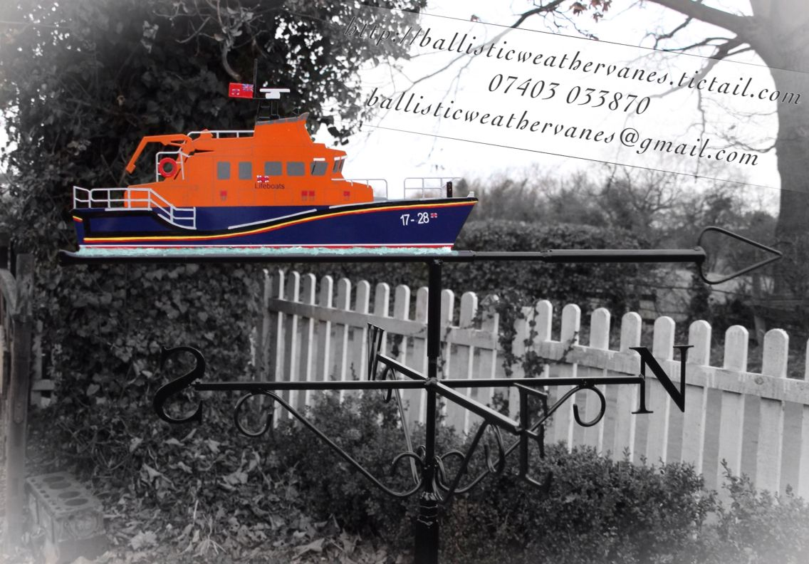 rnli severn class lifeboat weathervane for your dull winter garden