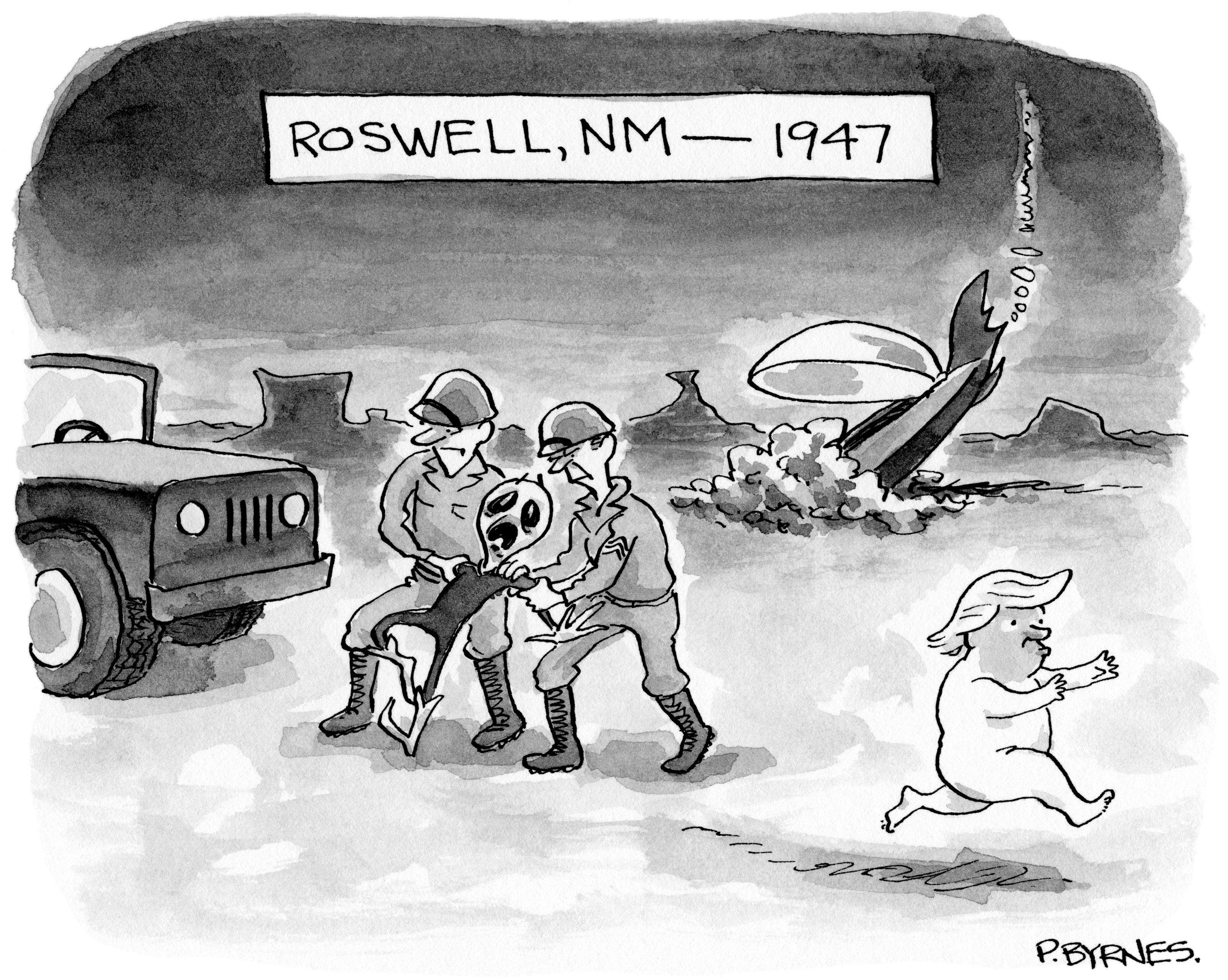 Daily Cartoon 051017 roswell trump | Truth | Pinterest | Cartoon and ...