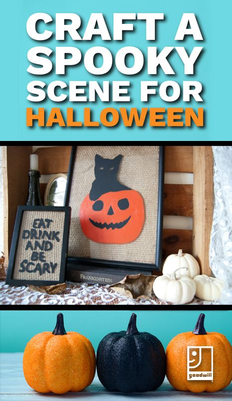 Create a spooky scene this fall to enhance your Halloween decor - create halloween decorations