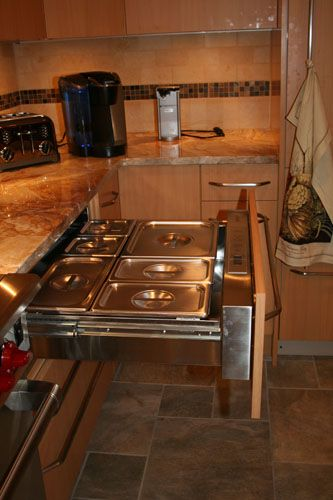 Specialty Kitchen Galleries | Beco Designs | www.beco-designs.com   Warming drawer