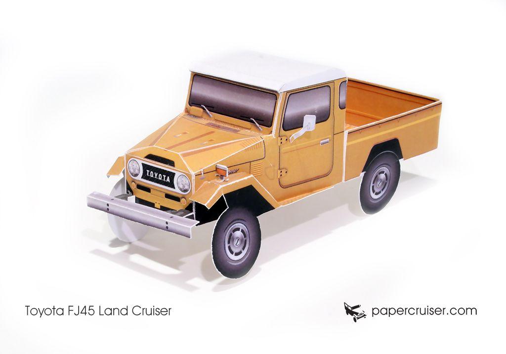 toyota paper models