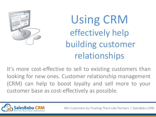 One World - One Business, Now make it successful with SalesBabu CRM