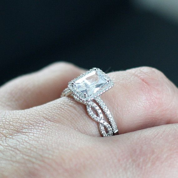 Ione Medio & Infinite Love FB Moissanite Diamonds by NaturalDivas, $2775.00