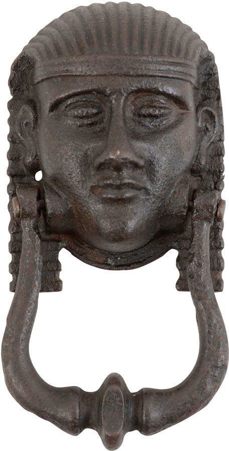 Impressive Cast Iron Egyptian Figural Door Knocker I Dont Have Anywhere To Put This Since My Front Is Glass But Love It Maybe A Hand Towel Rack