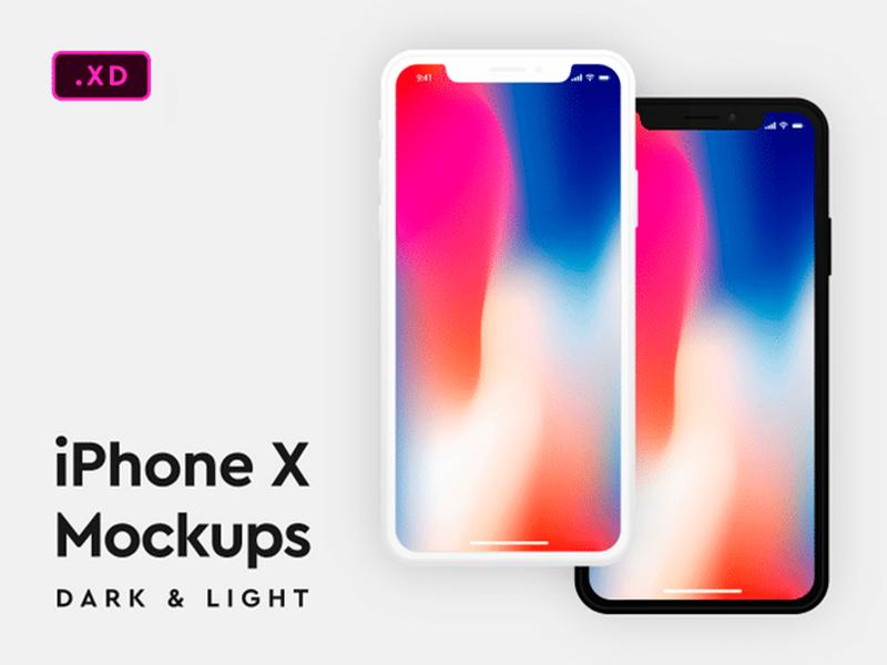 Dark Light Iphone X Mockups Free Download Iphone Free Iphone Iphone X
