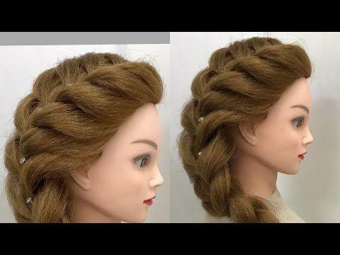 Wedding Hairstyle For Medium Long Hair Elegant Updo Youtube Easy Hairstyles Stylish Hair Braided Hairstyles Tutorials Easy