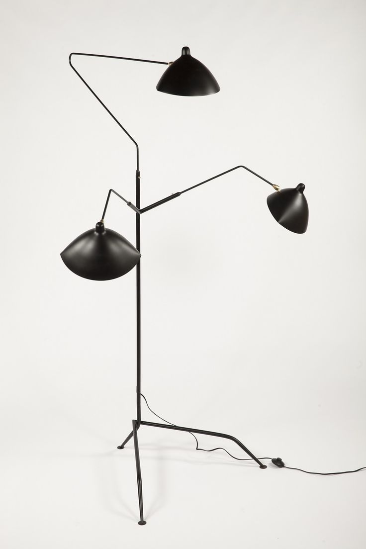 1stdibs Sculptural Threehead Midcentury Modern Floor Lamp In