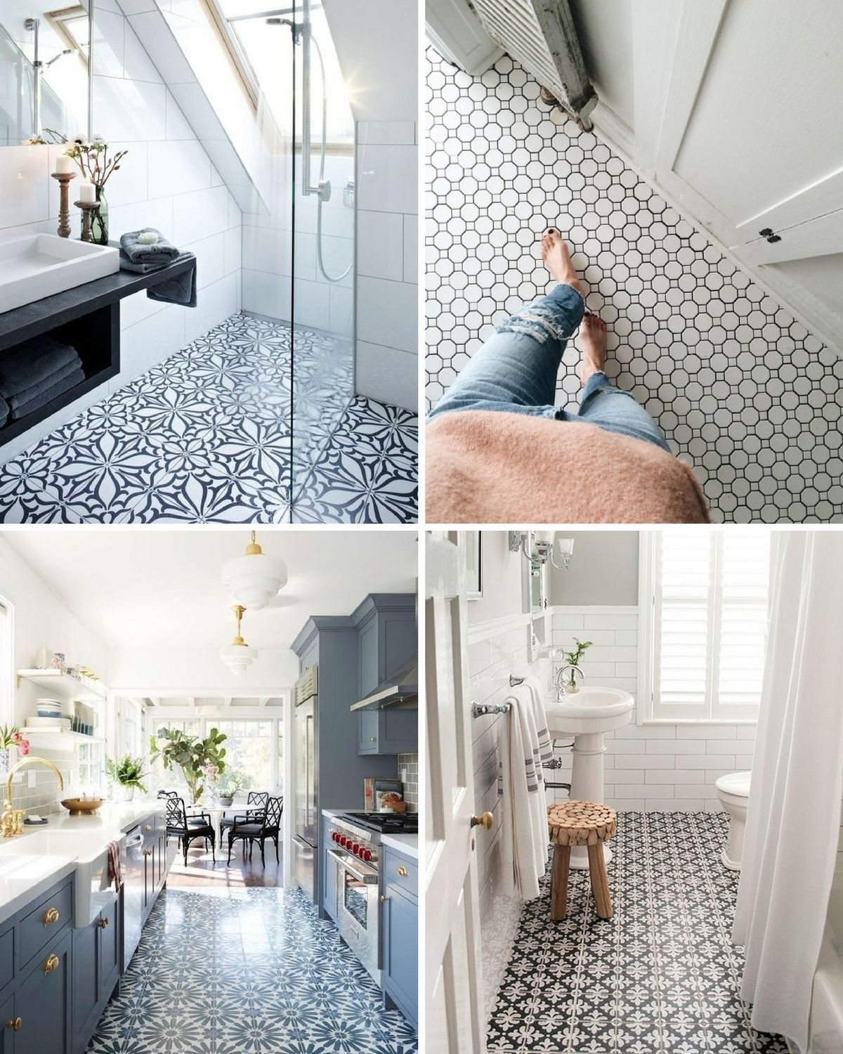 Five of the best patterned floor tiles for the home   Pinterest ...