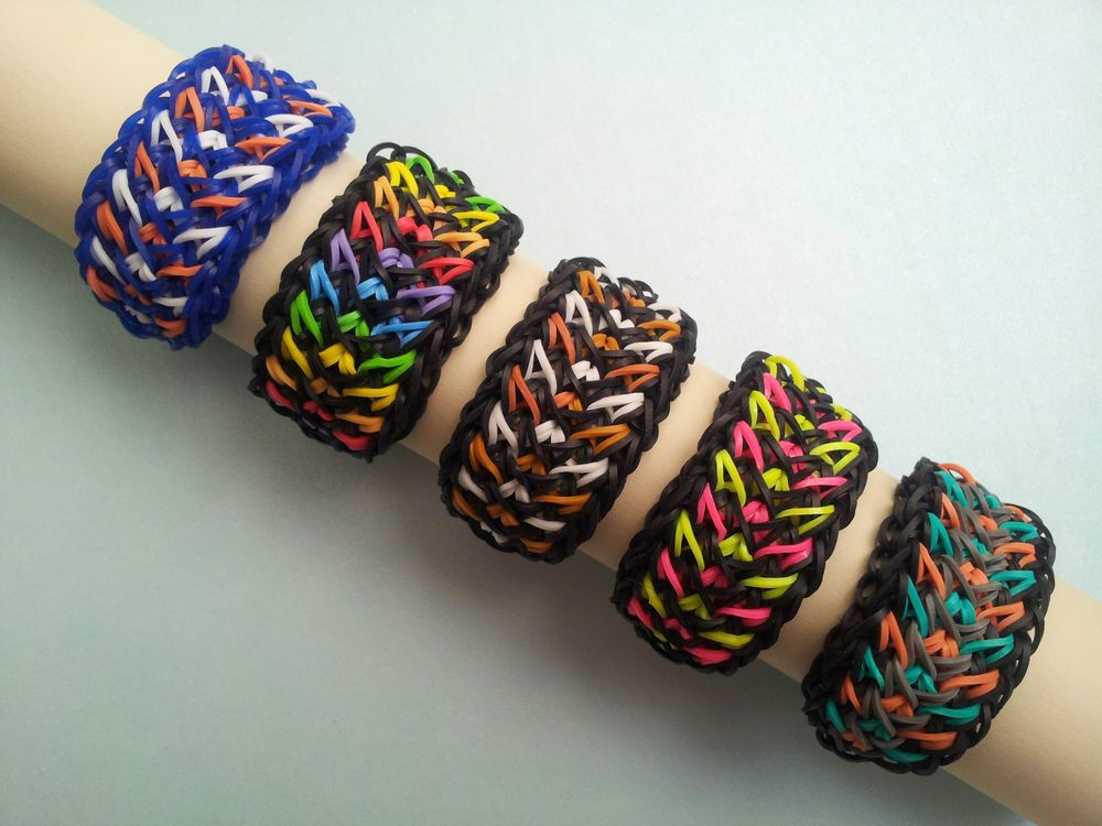 Details About Rainbow Loom Rubber Band Bracelet Galaxy