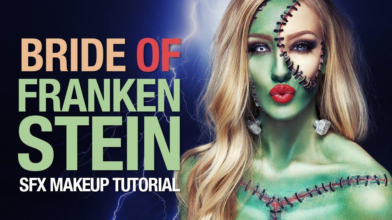 bride of frankenstein halloween makeup tutorial costumes cosplay jpg 1280x720 frankenstein halloween makeup