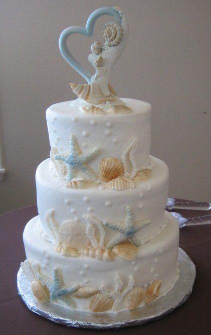 Seaside Jewels Beach Themed Wedding Cake Topper Beach Theme