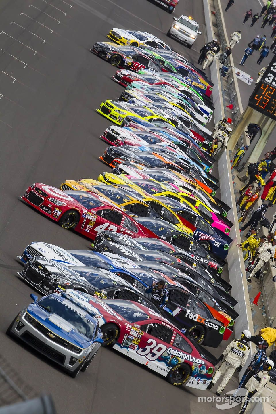 Starting grid at Indy                                                                                                                                                                                 More