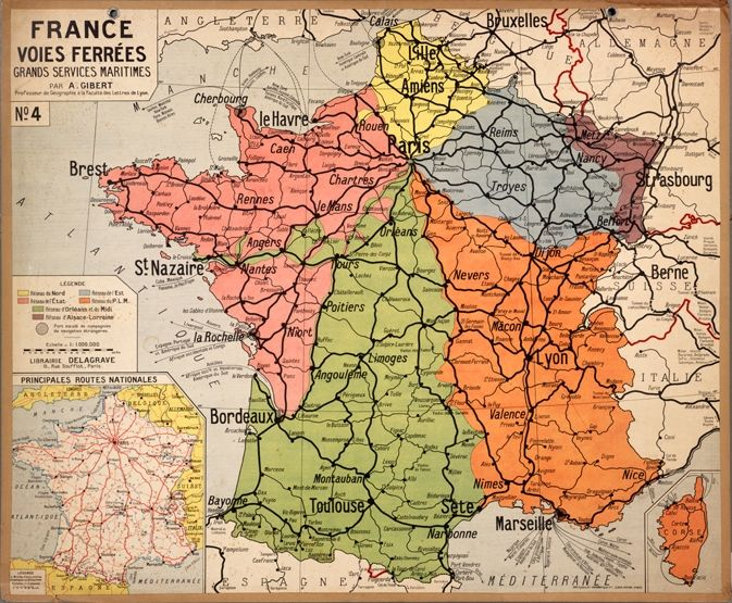 Vintage French Map Interesting Maps Of Italy France Map Vintage