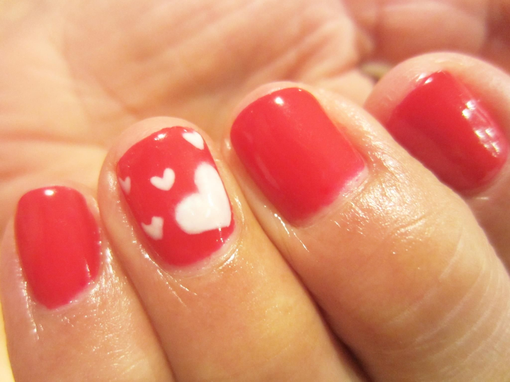 Red Carpet Manicure Valentines Day Nails With Red Carpet Ready And 100  White Hot By Loyda